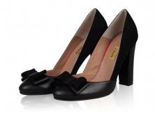 Pantofi dama-P23N Black Bow